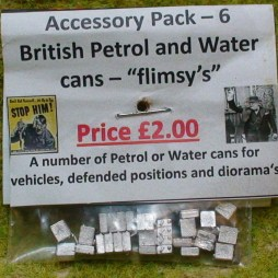 "A selection of Petrol and water cans - ""flim-seys"""