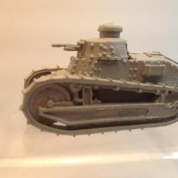 2 model Renault FT 17 Light Tank with mg turrets