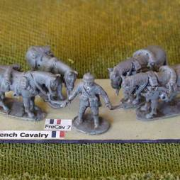 Line Cavalry  - 1 x Horse holder and 4 x horses