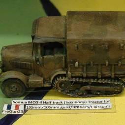 Somua MCG 4 Half track (box body) Tractor for