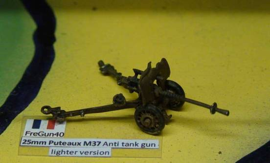 25mm Puteaux M37 Anti tank gun - lighter