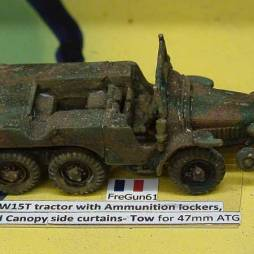 Laffly W15T tractor with Ammunition lockers,