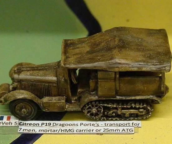 Citroen P19 Dragoons Porte's - transport for 7 men,