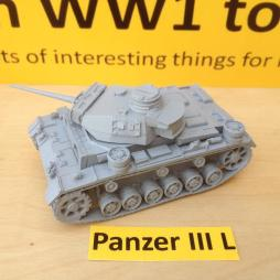 Panzer III Ausf L with L60 main gun and comes with optional crew