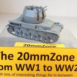 Wirbelwind 20mm Quad AA with crewman. AA Gun can be posed in mul