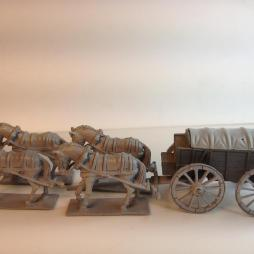 1 x Horse Drawn supply wagon and 4 horse team