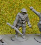 Infantryman advancing with British Helmet,