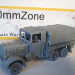 Einheits Diesel 2.5 tonne 6 x 6 with driver and passenger.