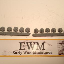20 Separate Black Shirt Heads for the new Italian Army figures.