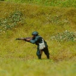 1 x Infantryman firing rifle in standing position