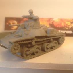 Type 95 Ha-Go Light Tank with Crewman. ALL metal version