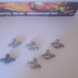 Pack of 6 Japanease Tank crewman - ideal for mounting in turrets