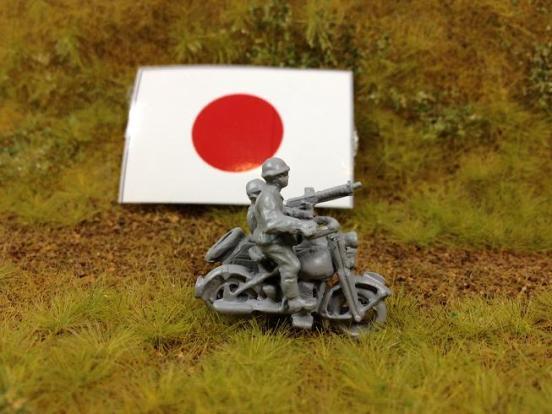 Model 97 Motorcycle and side car - Kurogane side car motorcycle