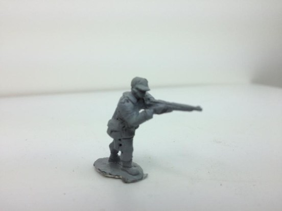 Firing M/1898 Krag-Jorgensen rifle in standing position