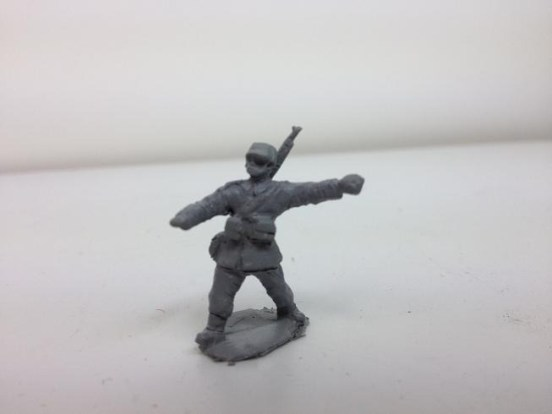Infantry - Attacking throwing grenade with M/1898 rifle
