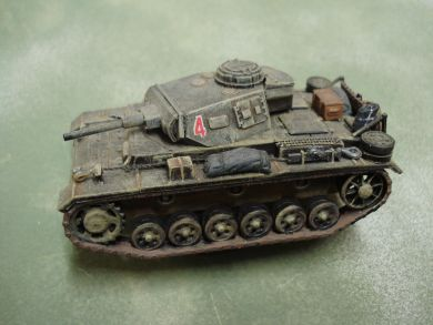 German PzIII Ausf G Medium Tank with side skirts. 2 models