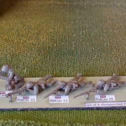 Dismounted Polish Cavalry prone firing rifle