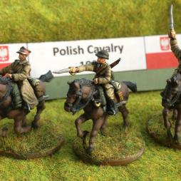 Polish Cavalry  Section mounted   - 6 cavalry various poses.
