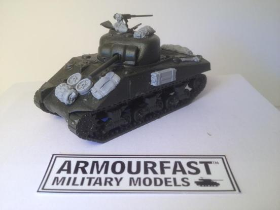 British Sherman tank stowagefor Armourfast or any models with enough for 2 models