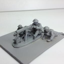 TL. Vickers Machine gun 3 man team with weapon deployed
