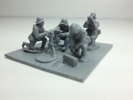 Captured St Ettienne Heavy machine gun with 4 german crew
