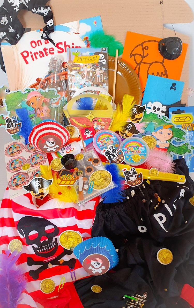 Subscription box, pirate themed, craft, activity, children's activity