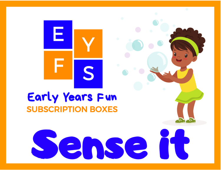 Sense it pack from early years fun subscription boxes for 3 to 6 year olds