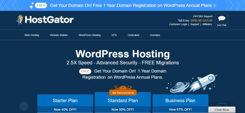Hostgator WordPress Cloud hosting