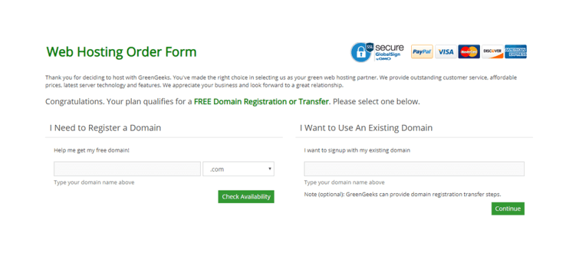 domain purchase page