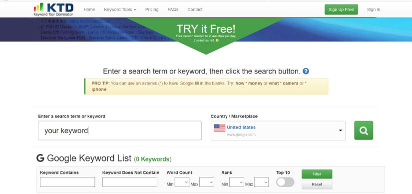 Keyword Tool Dominator - Best long-tail keyword research tool