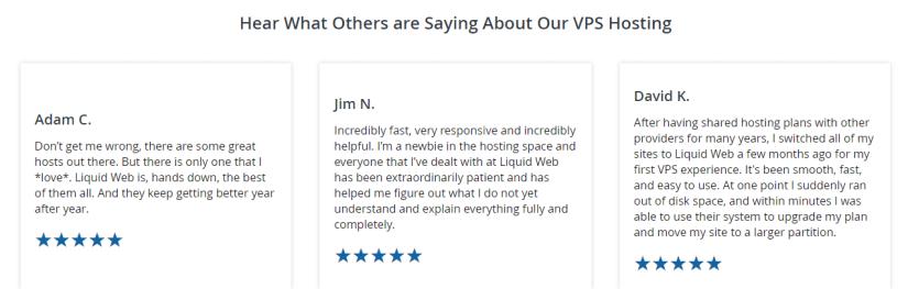 Liquid Web managed Vps Hosting reviews