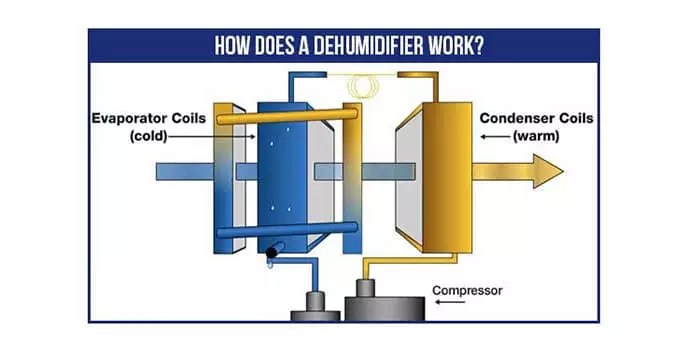 how does a commercial dehumidifier work