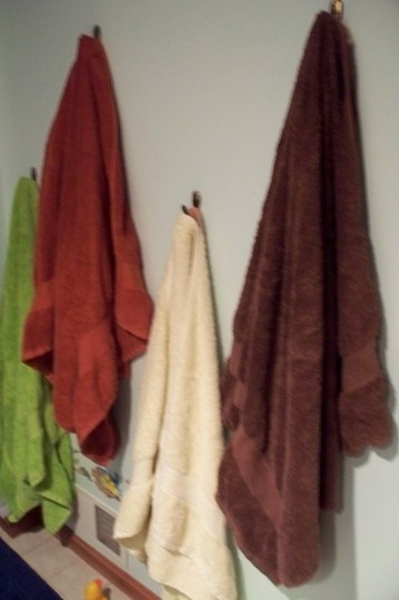 towels hanging on wall