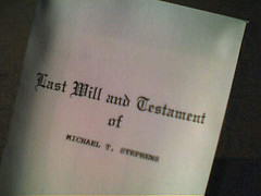cover page titled Last Will and Testament