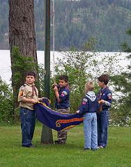 cub scouts folding flag