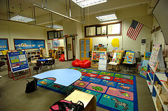 elementary classroom ready for students