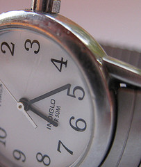sideways picture of watch