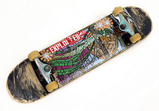 bottom side of skateboard