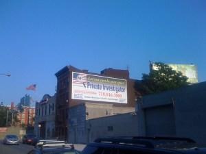 billboard for private investigator