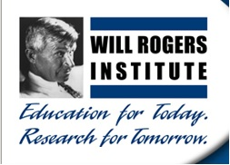 Will Rogers Institute logo that says Education for Today, Research for Tomorrow