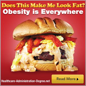 giant hamburger with caption: does this make me look fat? obesity is everywhere