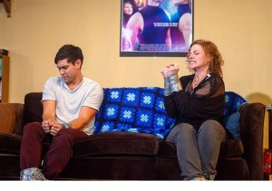 young people sitting on couch, arguing