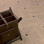 tile floor with table