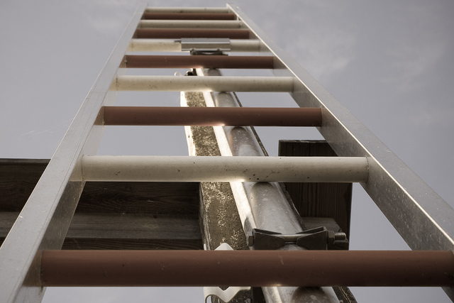 ladder going up out of sight