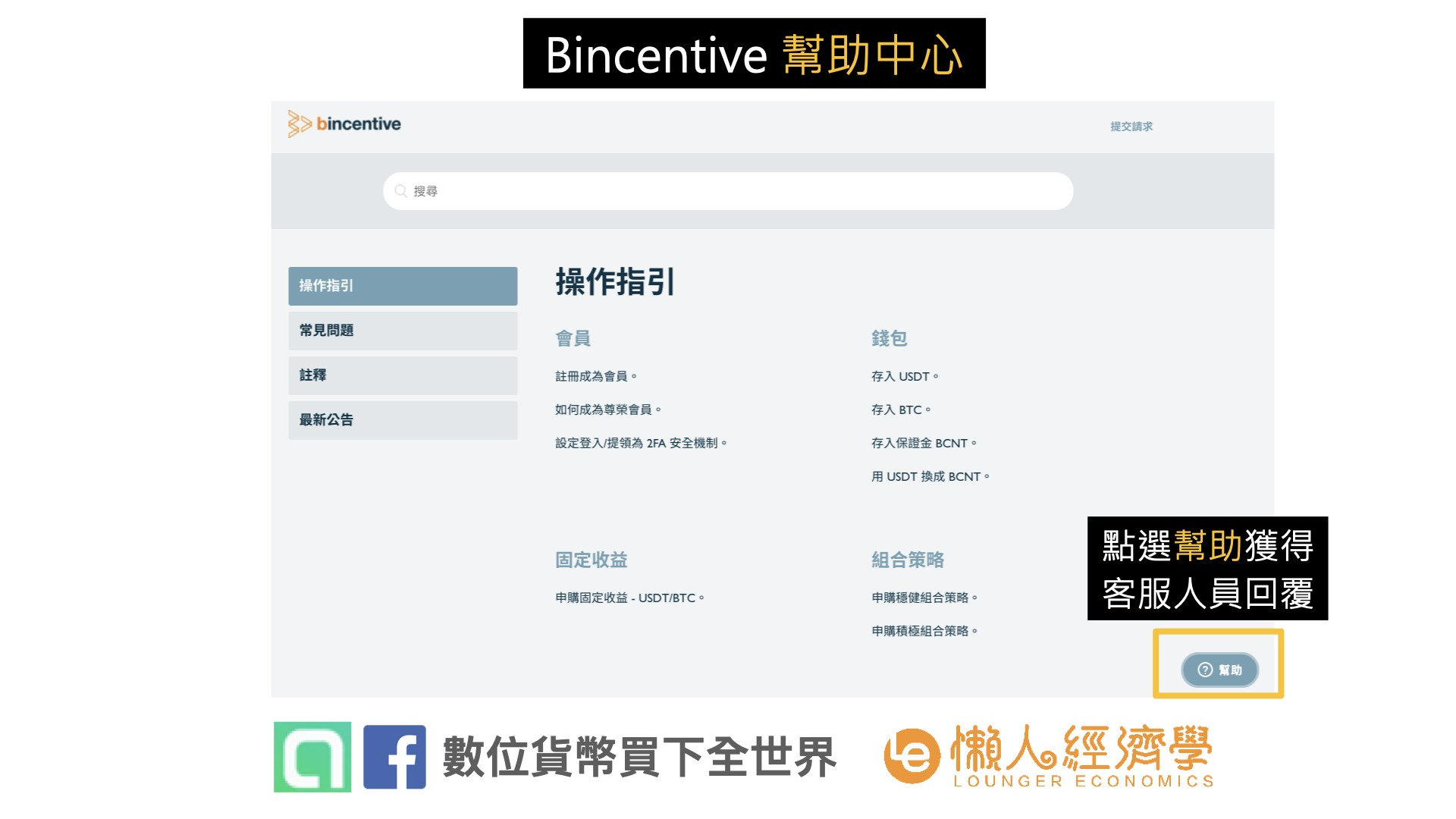 Bincentive 客服:bincentive 客服介面