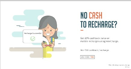 Freecharge – Get 10% Cashback On Your Recharge