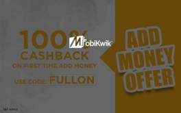 Mobikwik – Get 100% Cashback on First Time Add Money