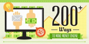200 Ways to Make Money Online - Infographic