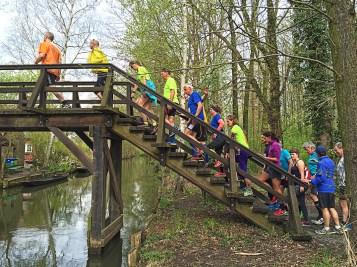 Spreewaldmarathon 2016 Lübbenau Treppen