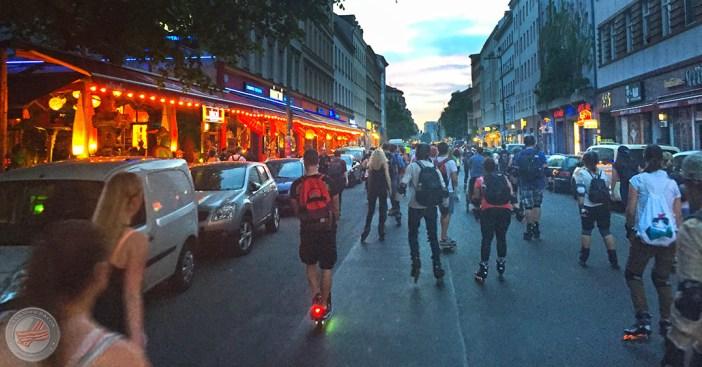 skate by night Saisonauftakt 2016 Oranienstraße